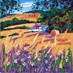 Cut Fields and Grasses by Lynn Rodgie -  sized 16x16 inches. Available from Whitewall Galleries